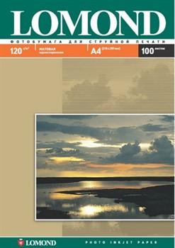 Lomond Матовая бумага 1х A4, 120г/м2, 100 листов     0102003 - фото 4434