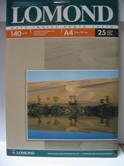 Lomond Матовая бумага 1х A4, 140г/м2, 25 листов     0102073 - фото 4454