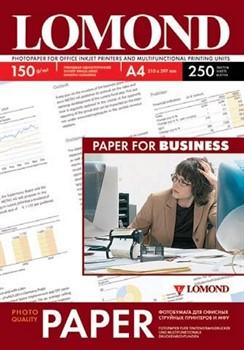 Lomond Глянцевая бумага 1х A4, 150г/м2 250 л.     0102133 - фото 4460