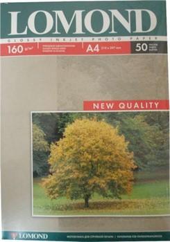 Lomond Глянцевая бумага'NEW' 1х A4, 160г/м2 50 л.     0102055 - фото 4465