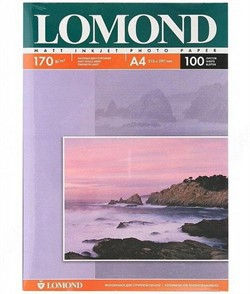 Lomond Матовая двусторонняя бумага A4, 170г/м2, 100 листов     0102006 - фото 4468