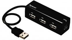 HUB 4-портовый USB Hub Apacer PH250     APPH250B-S - фото 4623