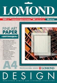 Lomond Бумага глянцевая с тиснением 'Шотландка' 200г/м2 10л А4     0922041 - фото 4643