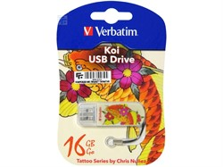Verbatim 16GB Флеш диск Mini Tattoo Edition, USB 2.0, Рыба     49886 - фото 4710