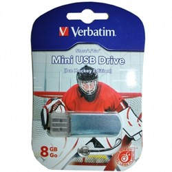 Verbatim 8GB флэш-диск Mini Sport Edition, USB 2.0, Хоккей     49878 - фото 4715