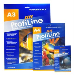 Фотобумага глянцевая Profiline, 150 г/м2, А3, 25 л, 2880 dpi - фото 4743
