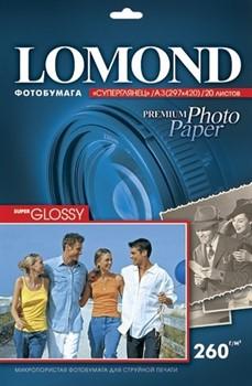 Lomond Суперглянцевая фотобумага A3  260 г/м2 20л.     1103130 - фото 4787