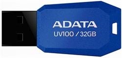 Флеш накопитель 32GB A-DATA UV100, USB 2.0, Синий     AUV100-32G-RBL - фото 4833