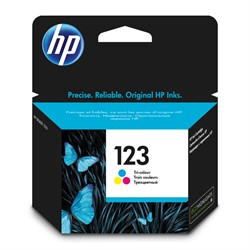 Картридж Hewlett-Packard HP 123 Tri-colour (Цветной) Ink Cartridge     F6V16AE - фото 4845