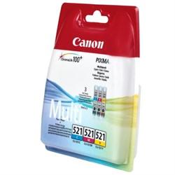 Чернильница CANON CLI-521 C/M/Y набор 3 цвета     CLI-521 C/M/Y - фото 4855