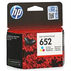 Картридж 652 colour (Цветной) для HP DJ Advantage 1115/2135/3635/3835/4535     F6V24AE - фото 4857