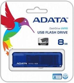A-DATA 8GB флэш-диск UV110, USB 2.0, Синий     AUV110-8G-RBL - фото 4864