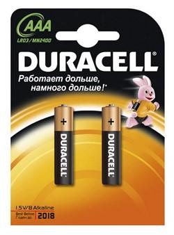 Батарейка AAA, Duracell Basic MN2400 (1 шт.)     LR03-2BL - фото 4874