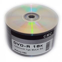 Диск DVD-R Ritek/CMC/MBI 4.7 Gb, 16x, Bulk (50), Printable     141168 - фото 4956