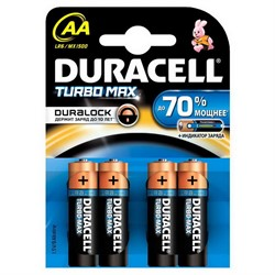 Батарейка AA, Duracell Turbo Max (1 шт.)     LR06-4BL - фото 4996