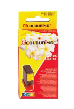 Картридж Colouring для Canon BCI-21, BCI-24 цветной     BCI-21, BCI-24 color - фото 4997
