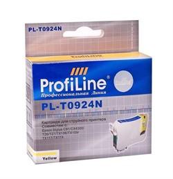 Картридж для Epson Stylus C91/CX4300/TX106/TX109/TX117/TX119/T26/T27 Yellow ProfiLine     0924N - фото 5001