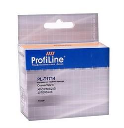 Картридж для EPSON XP-33/103/203/207/306/406 экономичный повышенной емкости Yellow13мл ProfiLine     T1714 - фото 5027