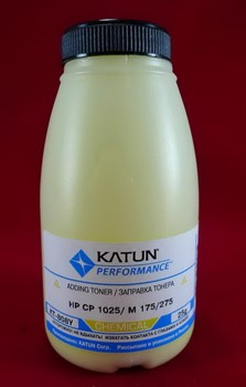Тонер HP CP 1025/M 175/275 yellow, химический (фл.25г.) Katun фас. Россия     KT-808Y - фото 5042