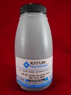 Тонер HP CP 1210/15/1510/18/CM 1312 MFP black химический (55 г) Katun     KT-807С - фото 5044