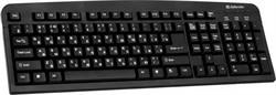 Клавиатура Defender Element HB-520 PS/2 B(Черный) 104+3кн.     45520 - фото 5267