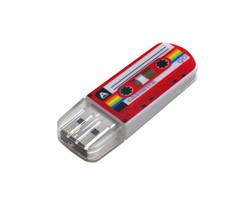 Verbatim 16GB Флеш-диск Mini Casette Edition, USB 2.0, Red     49398 - фото 5395