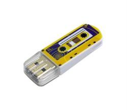 Verbatim 16GB Флеш-диск Mini Casette Edition, USB 2.0, Yellow     49399 - фото 5396