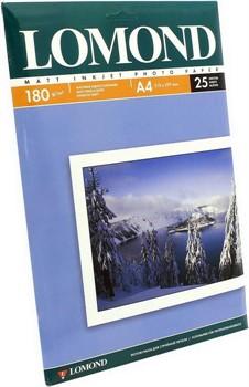 Lomond Матовая бумага 1х A4, 180г/м2, 25 листов     0102037 - фото 5432