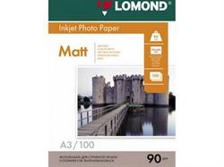 Lomond Матовая бумага 1х A3, 90г/м2, 100 листов     0102011 - фото 5447