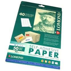 Lomond Наклейки А4: 40 частей 50 листов (48.5x25.4)     2100195 - фото 5481