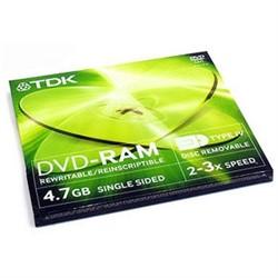 DVD-RAM  4.7GB односторонний Тип 4 TDK     DVD-RAM47C4EB - фото 5701