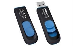 Флеш накопитель 64GB A-DATA UV128, USB 3.0, черный/синий     AUV128-64G-RBE - фото 8977