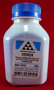 Тонер Xerox Phaser 6000/6010/6015/6125/6128/6130/6140/6500/6505 Cyan (фл. 30г) AQC фас. Россия     AQC-242C - фото 9558