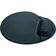 Defender Коврик гелевый с гелев.подушкой, лайкра нескользящ.основа, (260х225х5мм), черный.     50905