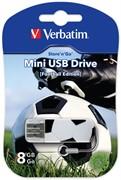 Verbatim 8GB флэш-диск Mini Sport Edition, USB 2.0, Футбол     49880