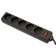 Сетевой фильтр Сетевой фильтр ES 1,8 м 5 розеток черный Defender     99484