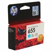 Картридж HP 655 Cyan (Голубой) DJ IA 3525/5525/4515/4525 600 страниц     CZ110AE