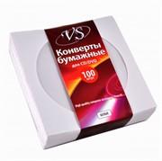 Конверты на 1 CD(белые) бумажные с окном 1 шт. (100шт. в уп.)