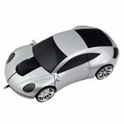 Мышь сувенирная CBR MF-500 Lazaro Silver, 800dpi, игр.автомобиль, подсветка, USB     MF 500 Lazaro Silver