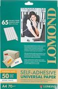 Lomond Наклейки А4 65 частей (38.0х21.2) 70 г/м2, 1650 листов Техническая упаковка     2100215ТЕХ
