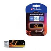 Verbatim 32GB Флеш накопитель Mini Neon Edition, USB 2.0, Orange     49388