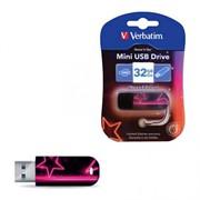 Verbatim 32GB Флеш накопитель Mini Neon Edition, USB 2.0, Pink     49390