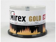 Диск CD-R Mirex 700 Mb, 24х, Gold, Cake Box (50) (цена за штуку)     201793