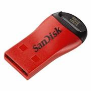 Адаптер MicroSD --> USB 2.0, SanDisk, Красный     SDDRK-121-B35