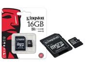 Флеш карта microSD 16GB Kingston microSDHC Class 10 UHS-I (SD адаптер) 45MB/s     SDC10G2/16GB