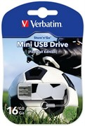 Verbatim 16GB Флеш диск Mini Sport Edition, USB 2.0, Футбол     49879