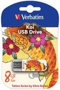 Verbatim 32GB Флеш накопитель Mini Tattoo Edition, USB 2.0, Рыба     49897