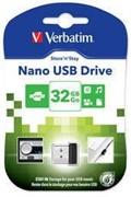 Verbatim 32GB Флеш накопитель Nano, USB 2.0, Micro, Черный     98130