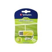 Verbatim 8GB флэш-диск Mini Sport Edition, USB 2.0, Теннис     98511