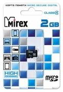 Флеш карта microSD 2GB Mirex microSDHC Class 4     13612-MCROSD02